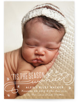 Season Of Wonder Sparkle Holiday Birth Announcements