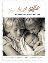 The Best Gifts Holiday Birth Announcements