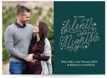 So Long Silence Holiday Birth Announcements