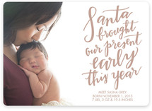 Santa Came Early Holiday Birth Announcements