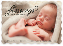 Small Blessings Holiday Birth Announcements