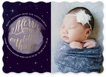 To the Moon Holiday Birth Announcements