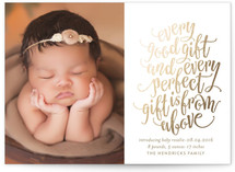 Perfect Gift Holiday Birth Announcements
