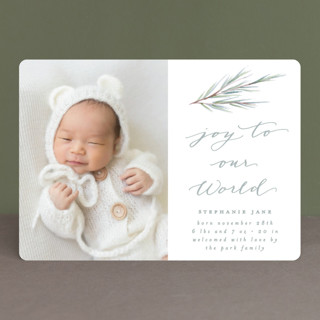 Our World Holiday Birth Announcements