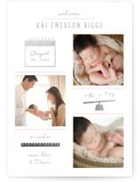 Checkers Foil-Pressed Birth Announcements