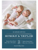 Twin Lines Foil-Pressed Birth Announcements