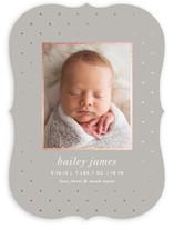 Lustre Foil-Pressed Birth Announcements