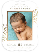 Floral Whimsy Foil-Pressed Birth Announcements