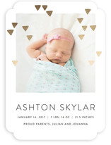 Modern Glow Foil-Pressed Birth Announcements