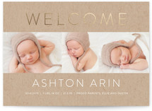 Simply Perfect Foil-Pressed Birth Announcements