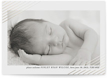 Modern Shimmer Foil-Pressed Birth Announcement Cards