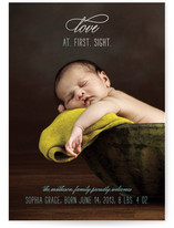 Love at First Sight Foil-Pressed Birth Announcement Cards