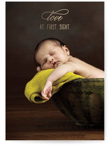 Love at First Sight Foil-Pressed Birth Announcements
