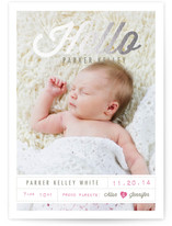 Tagged with Love Foil-Pressed Birth Announcements