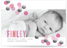 Confetti Foil-Pressed Birth Announcement Cards