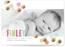 Confetti Foil-Pressed Birth Announcements