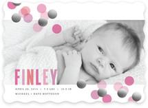 Confetti Foil-Pressed Birth Announcements