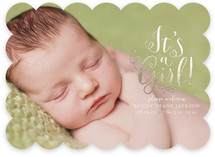 Darling Birth Foil-Pressed Birth Announcements