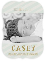 Chic Debut Foil-Pressed Birth Announcements