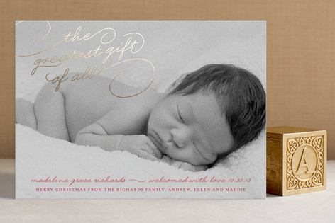 Greatest Gift Foil-Pressed Birth Announcements