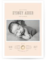 Custard Foil-Pressed Birth Announcements