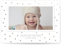Modern Dot Foil-Pressed Birth Announcement Cards