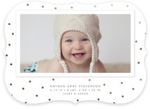 Modern Dot Foil-Pressed Birth Announcements
