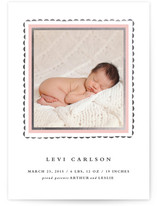 Delicate Frame Foil-Pressed Birth Announcements