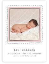 Delicate Frame Foil-Pressed Birth Announcements