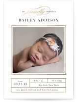 Proud Introduction Foil-Pressed Birth Announcements