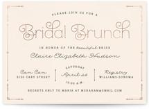 Blushing Brunch Foil-Pressed Bridal Shower Invitations