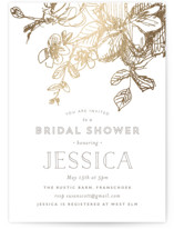Elegance Illustrated Foil-Pressed Bridal Shower Invitations