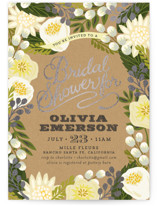 Floral Canopy Foil-Pressed Bridal Shower Invitations