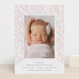 Gardenia Letterpress Birth Announcements