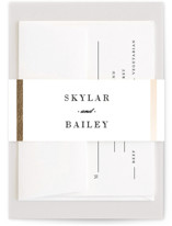 Classic Monogram Foil-Pressed Belly Bands