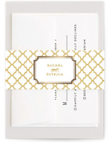 Luxe Border Foil-Pressed Belly Bands