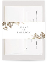 Gilded Wildflowers Foil-Pressed Belly Bands