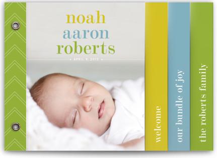Classy Noah Birth Announcement Minibooks