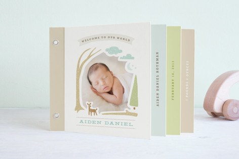 Woodland Beginnings Birth Announcement Minibook™ Cards