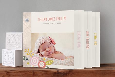 Delilah Birth Announcement Minibook™ Cards