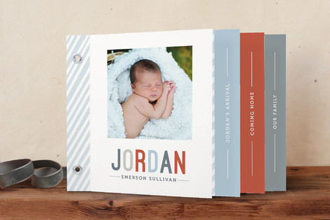Close-Up and In-Depth Birth Announcement Minibook™ Cards