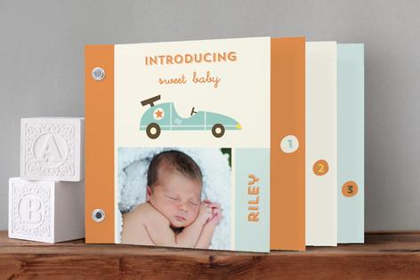 Vintage Toy Car Birth Announcement Minibook™ Cards