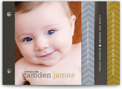 Worth Our Wait Birth Announcement Minibooks