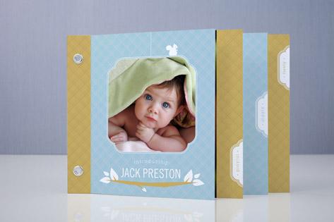 Woodland Baby Birth Announcement Minibook™ Cards