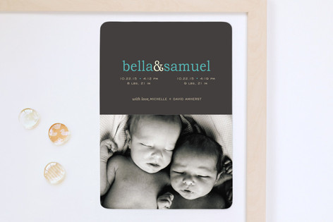 Pop of Color Birth Announcement Magnets