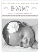 Curlicues Birth Announcement Magnets
