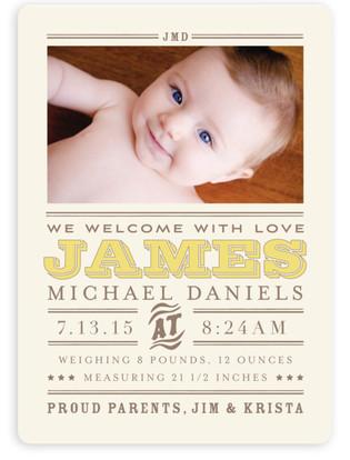 Wild West Baby Birth Announcement Magnets