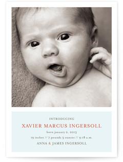 Poetic Birth Announcement Postcards