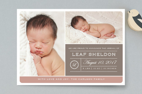 From Your Nose to Your Toes Birth Announcement Postcards