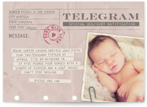 Telegram Birth Annoucement Postcards